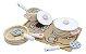 Conjunto panelas com utensílios e cooktop - rosa claro - Imagem 1