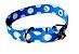 Coleira de Cachorro com Guia Cetim Azul - Imagem 1