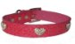 Coleira Pet em Courino Rosa com Corações de Strass - Imagem 4