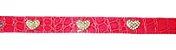Coleira Pet em Courino Rosa com Corações de Strass - Imagem 3