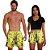 Kit Shorts Casal Masculino e Feminino Bob Esponja Amarelo Use Thuco - Imagem 2