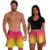 Kit Shorts Casal Masculino e Feminino Sunset Coleção Festas - Imagem 1
