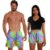 Kit Shorts Casal Masculino e Feminino Tie Dye Summer Purple Use Thuco - Imagem 1