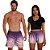 Kit Shorts Casal Masculino e Feminino Roxo Degrade Use Thuco - Imagem 1