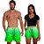 Kit Shorts Casal Masculino e Feminino Verde Degrade Use Thuco - Imagem 1