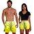 Kit Shorts Casal Masculino e Feminino Amarelo Degrade Use Thuco - Imagem 1