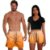 Kit Shorts Casal Masculino e Feminino Laranja Degrade Use Thuco - Imagem 1