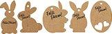 Tags Coelhinhos para Páscoa Personalizada em Kraft ou Color Plus - Imagem 2