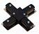 Conector Emenda - Tipo X - Para Trilho Eletrificado LED - Cor Preta - Imagem 1