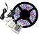 Fita LED - 5050 RGB (Colorida) - Rolo com 5 Metros - 6w  - 60 LEDs por Metro - IP65 (com Silicone) - 12V - com Controle Remoto e Fonte - Imagem 1