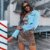 Jaqueta Jeans Cropped Jess Princess - Imagem 1