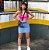 Saia Jeans Bicolor Princess - Imagem 1