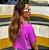 Cropped Clean Summer Roxo Neon  Estonado Princess - Imagem 3
