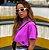 Cropped Clean Summer Roxo Neon  Estonado Princess - Imagem 4