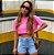 Cropped Clean Summer Rosa Neon  Estonado Princess - Imagem 1