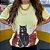 """Camiseta Amarela  """"With a cat"""" Princess - Imagem 4"""