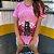 """CAMISETA ROSA """"WITH A CAT"""" PRINCESS - Imagem 2"""