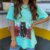 "CAMISETA TURQUESA ""WITH A CAT"" PRINCESS - Imagem 2"