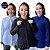 Kit 3 Camisas Plus Size Feminina de viscose com elastano - Imagem 1