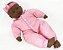 Boneca Bebês Coleção - Sons Bebê - Negra - 44cm - Divertoys - Imagem 5