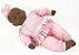 Boneca Bebês Coleção - Sons Bebê - Negra - 44cm - Divertoys - Imagem 2