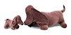 Pelúcia - Basse Fifi Grávida com 1 filhote - Marrom - Bichos de Pano  - Imagem 1