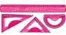 Conjunto Geométrico Inquebrável - Rosa - Molin  - Imagem 2