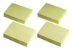 Bloco Auto Adesivo - Post-it - Amarelo - 4 Blocos - 38x50mm - Jocar Office - Leonora  - Imagem 2