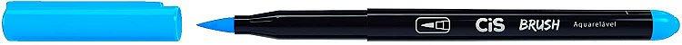 Kit Canetas Brush Pen - Aquarelável - 6 Cores Básicas - Cis  - Imagem 4