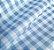 TNT Estampado Xadrez Branco/Azul - 1m x1,40m - Imagem 1