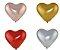 Bexiga Coração Cromado número 6 com 25 unidades - Art Latex - Imagem 1