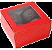 Caixa Vermelha Doce Gourmet 4 Doces Com  10unid (cód. 1598) - Ideia - Imagem 1