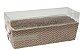 Caixa para bolo forneável com tampa Chevron (cód. 2157) c/ 10 un - Ideia - Imagem 1