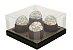 Caixa para 4 cupckes Marrom com Ouro c/ 10 un (cód. 0858)  - Ideia - Imagem 1