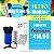 """Filtro de água de entrada Big Blue 10"""" polegadas com carvão ativado + Suporte  - Imagem 1"""