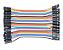 Jumper fêmea fêmea 10 cm, 40 fios, multi cores. - Imagem 1