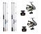 KIT 2 MOLINETES XT-6000I + 2 VARAS SUPER CAST SC-1003H 3,05M - Imagem 1