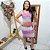 Vestido de Tricot Duplo Pied de Poule Colorido - Imagem 2