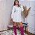Chamise Margarida Camisa Social Branca com Desenho - Imagem 3