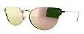 Óculos Solar Feminino  NY1024 Rosa Espelhado - Imagem 1