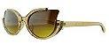 Óculos Solar Feminino 681079 Bege Transparente - Imagem 1