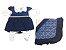Saída de Maternidade Plush com Renda Marinho Ma - 4 Peças - Imagem 1
