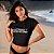 "Camiseta Cropped Feminina Frases De Carnaval ""Destino"" - Imagem 2"