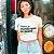 """Camiseta Cropped Feminina Frases De Carnaval """"Eu Quero Beber"""" - Imagem 2"""