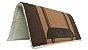 Manta Americana de algodão Tear Manual Top de Linha Marrom 08 - Imagem 3