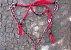 Conjunto Peitoral e Cabeçada Argolas Inox - Vermelho - Imagem 2