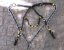 Conjunto Peitoral e Cabeçada Argolas Inox - Preto com Amarelo - Imagem 2