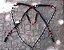 Conjunto Peitoral e Cabeçada Argolas Inox - Preto com Vermelho - Imagem 2