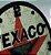 Relógio Decorativo De Parede MDF Texaco em alto relevo Quartzo - Imagem 2