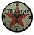 Relógio Decorativo De Parede MDF Texaco em alto relevo Quartzo - Imagem 1